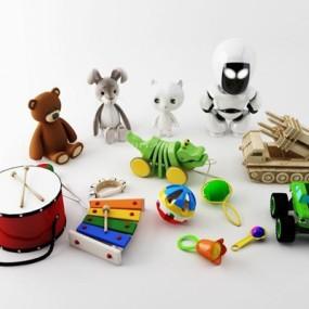 儿童玩具组合3D模型【ID:528005761】