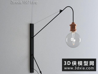 現代壁燈國外3D模型【ID:829415857】