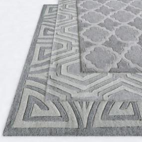 现代地毯组合3D模型【ID:427795034】