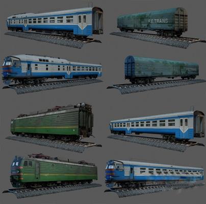 现代火车3D模型【ID:120600692】