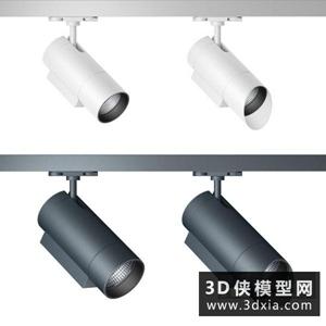 现代轨道灯国外3D模型【ID:929814167】