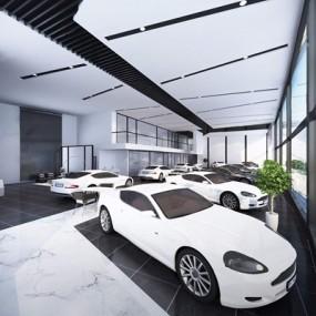 4S汽车销售店3D模型【ID:628017923】