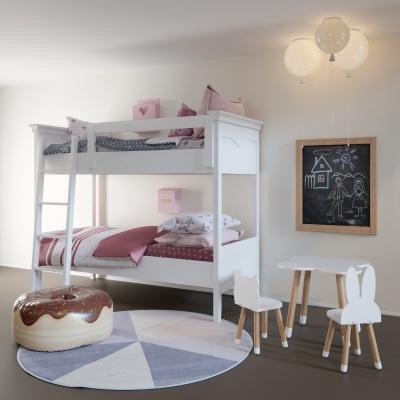 北欧实木儿童床3D模型【ID:728470123】