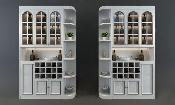 现代酒柜3D模型【ID:924888061】