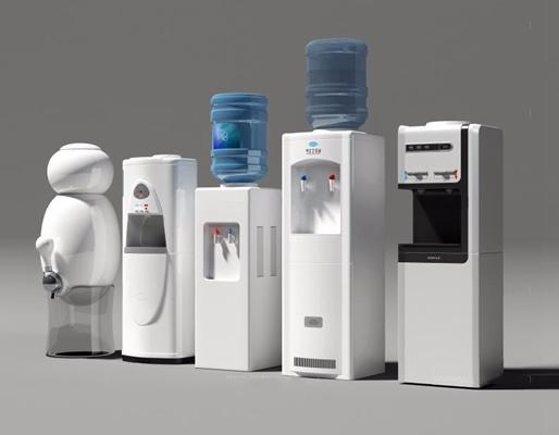 饮水机组合3D模型【ID:127852724】