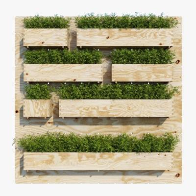 现代绿植盆栽组合3D模型【ID:327793807】