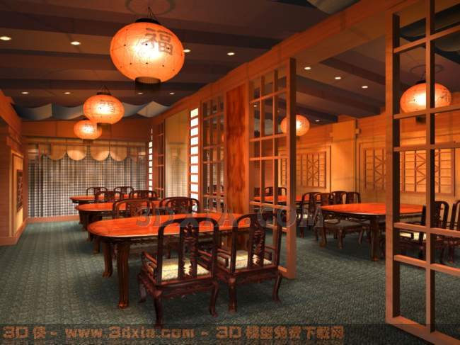 餐厅-KBP3D模型【ID:30004】