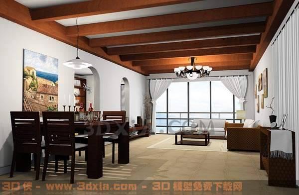 餐厅-KCQ3D模型【ID:30016】