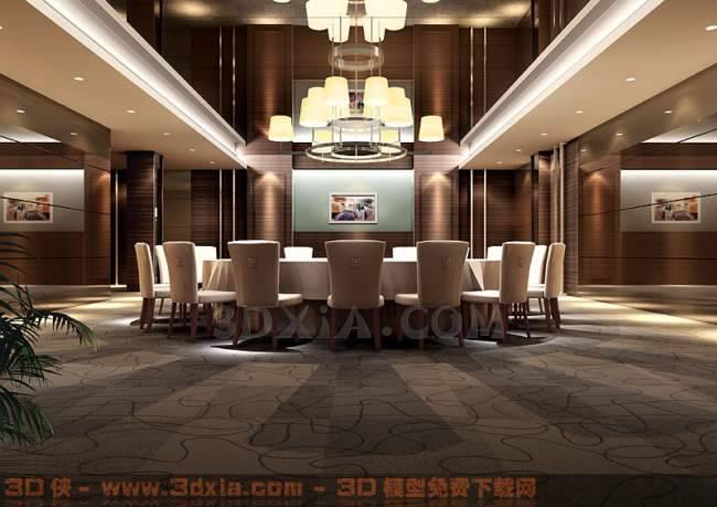 餐厅-fP3D模型【ID:30076】