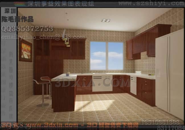 厨房E3D模型【ID:30089】