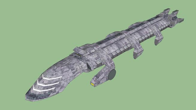 约克攻击舰370雅典娜SU模型【ID:839595452】