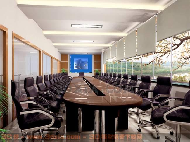 会议室DC3D模型【ID:30857】