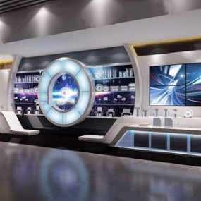 現代科技展廳3d模型【ID:948245763】