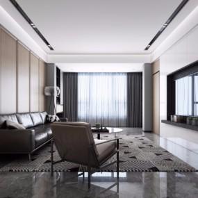 现代客厅3D模型【ID:128415223】