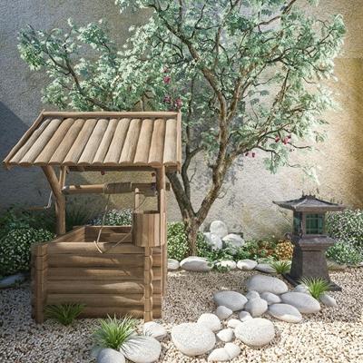 日式庭院3D模型【ID:427941451】