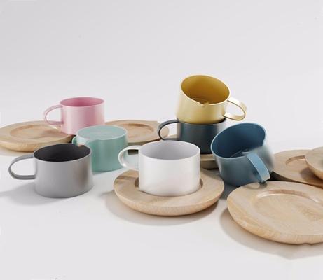 北欧时尚精致杯子杯垫3D模型【ID:128216051】