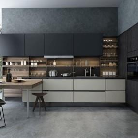 现代厨房3D模型【ID:528038005】