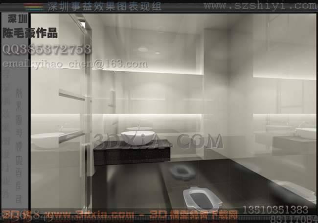 卫生间Q3D模型【ID:31003】