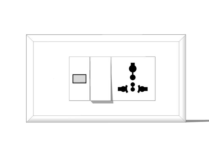 開關插座面板組合SU模型【ID:136360986】