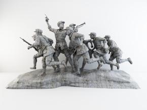 現代紅軍革命石雕塑3D模型【ID:327785845】