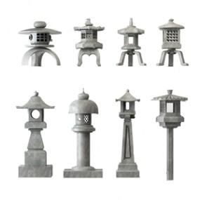 中式庭院石灯3D模型【ID:620827234】