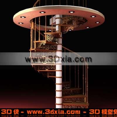 旋转楼梯3D模型下载【ID:3141】
