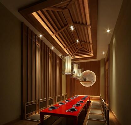 日式日式餐厅3D模型【ID:314912083】