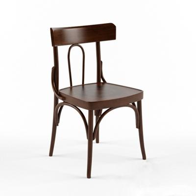 英式田園原木色木藝餐椅3D模型【ID:314917019】