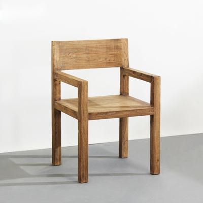 新中式原木色木艺扶手椅3D模型【ID:314920444】