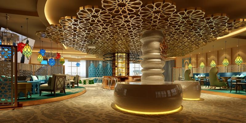 其他混搭茶餐厅3D模型【ID:314923168】