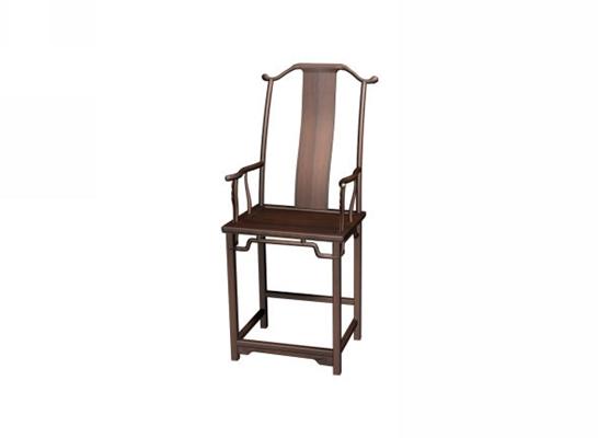 传统中式原木色木艺扶手椅3D模型【ID:314972407】
