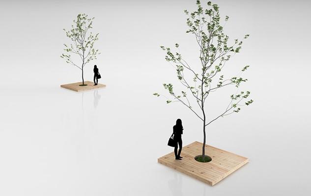 绿色景观树3D模型【ID:315004907】