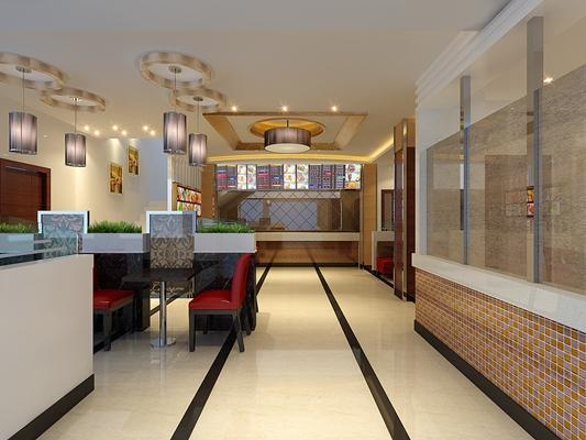 现代快餐厅3D模型【ID:315052915】