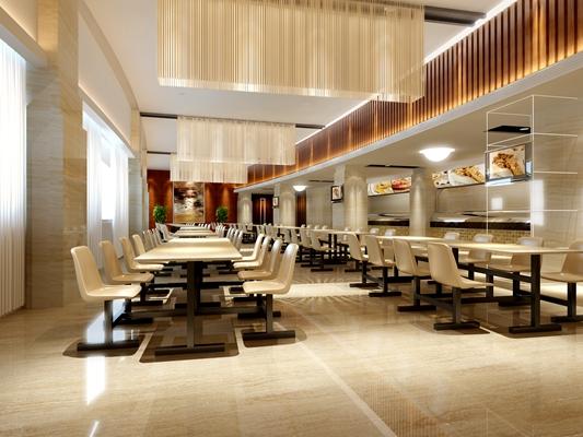 现代快餐厅3D模型【ID:315064903】