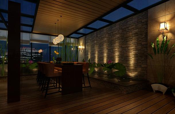 新中式茶餐厅3D模型【ID:315071169】
