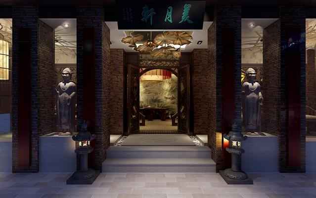 传统中式中餐厅3D模型【ID:315071453】