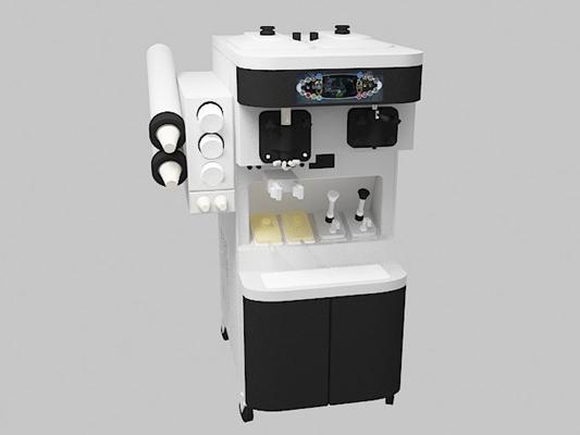 白色冰淇淋机3D模型【ID:315080690】