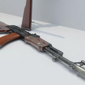 棕色枪3D模型【ID:315081501】