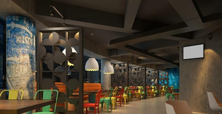 现代快餐厅3D模型【ID:315144986】