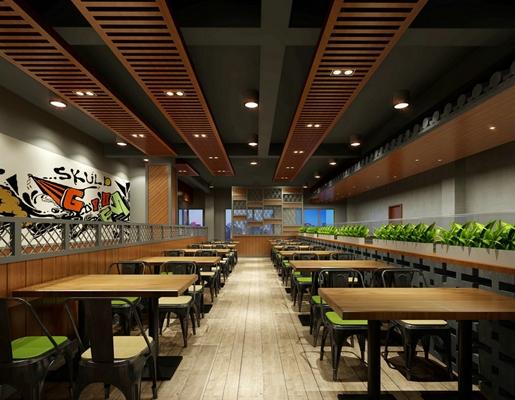 现代快餐厅3D模型【ID:315182922】