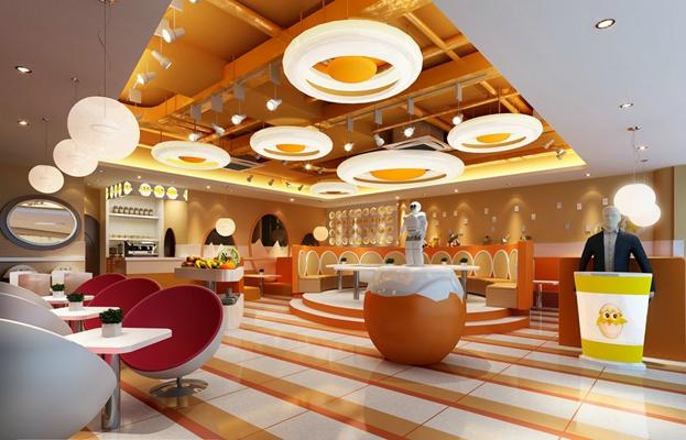 现代快餐厅3D模型【ID:315183981】