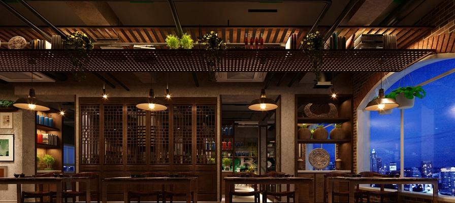 传统中式中餐厅3D模型【ID:315211472】