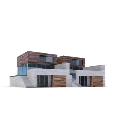 连排别墅3D模型【ID:315236684】