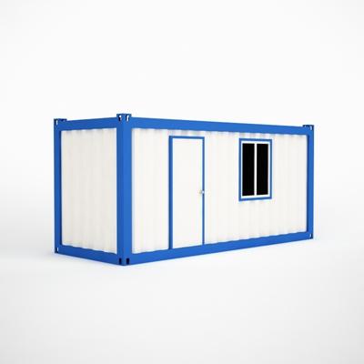 白色集装箱3D模型【ID:315238993】