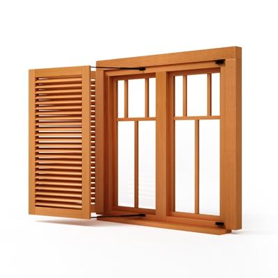 现代木艺百叶窗3D模型【ID:315262480】