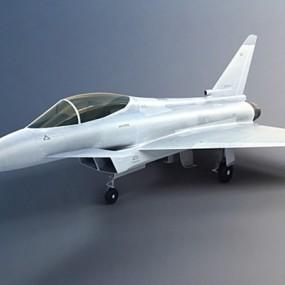 银色飞机3D模型【ID:315274078】