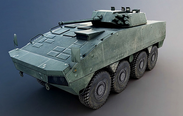 绿色坦克3D模型【ID:315274153】