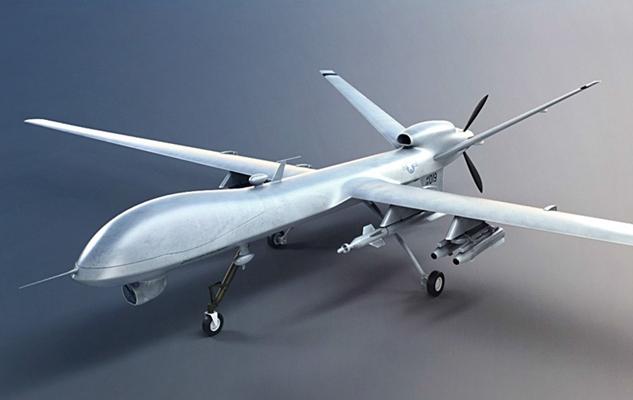 银色飞机3D模型【ID:315275008】