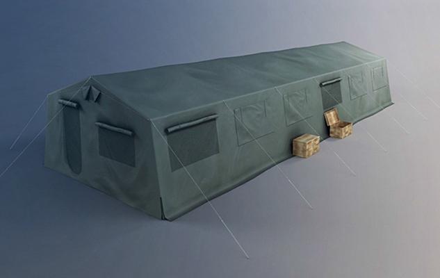 軍用帳篷3D模型【ID:315275018】