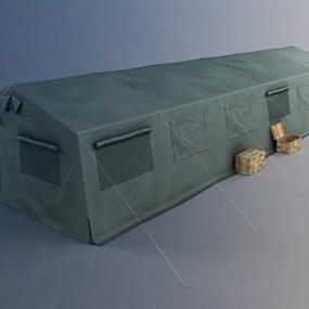 军用帐篷3D模型【ID:315275018】